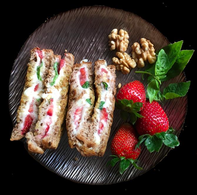 Basil Strawberry Toast